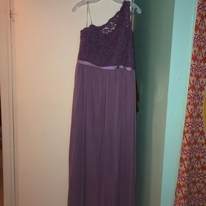 Beautiful lilac colored gown.